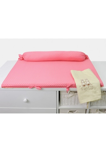smarTrike® Wickelauflage »toTs Wickelmatte Joy Rabbit pink«, mit Rolle kaufen