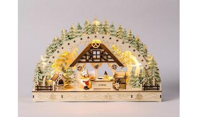 HGD Holz - Glas - Design Lichterbogen Weihnachtsbäckerei kaufen