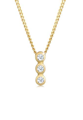 Diamore Collierkettchen »Kreis Geo Trio Diamant (0.045 ct.) 585 Gelbgold« kaufen