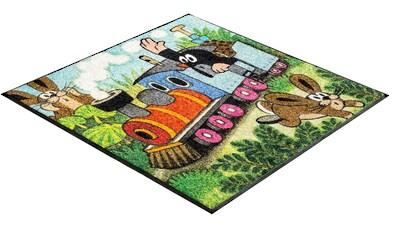 Kinderteppich, »Maulwurf Zug«, wash+dry by Kleen - Tex, quadratisch, Höhe 7 mm, gedruckt kaufen