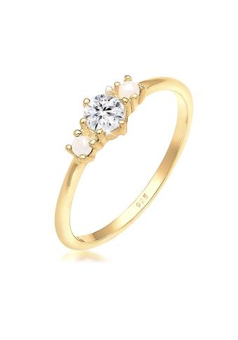 Elli Verlobungsring »Bandring Synthetische Perlen 925er Silber« kaufen