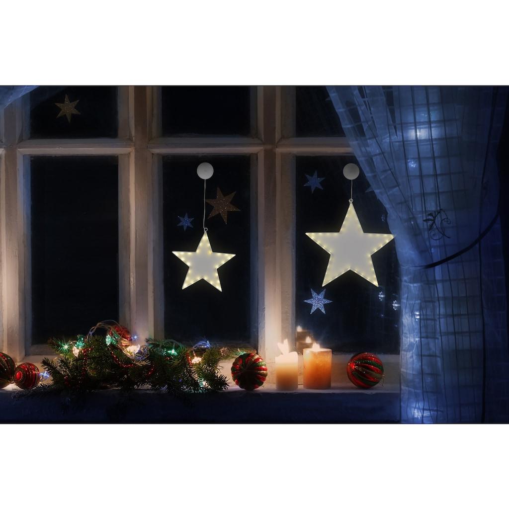 näve Dekolicht, 2 St., Warmweiß, ideal für Fensteraufhängung, Set mit 2 Stück