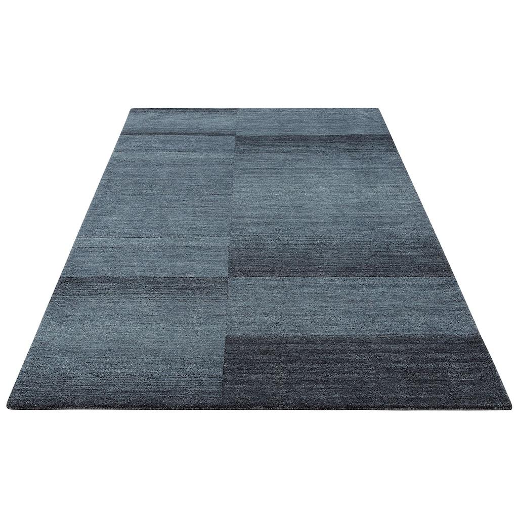 Theko Exklusiv Wollteppich »Jorun«, rechteckig, 14 mm Höhe, reine Wolle, von Hand gearbeitet, Wohnzimmer