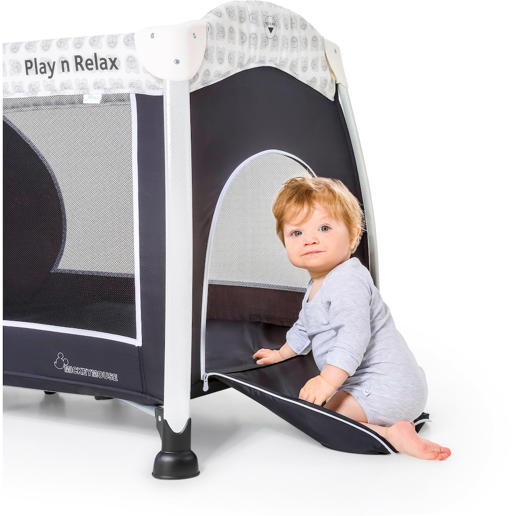Hauck Baby-Reisebett »Play`n Relax, Mickey Cool Vibes«, Kippsicher
