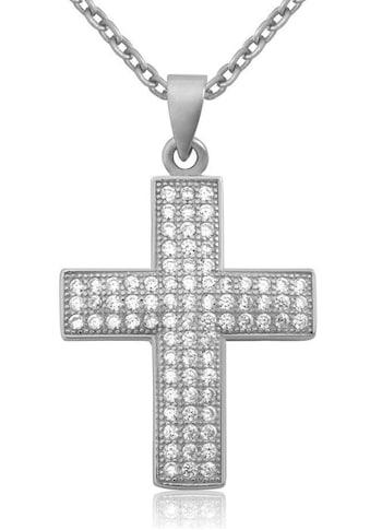 Firetti Kette mit Anhänger »Kreuz/Glaube«, mit zahlreichen Zirkonia kaufen