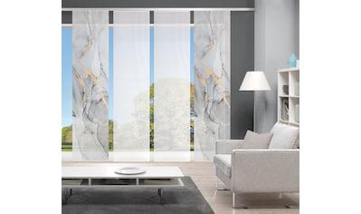 Vision Schiebegardine »MARMOSA 4er SET«, Bambus-Optik, Digital bedruckt kaufen