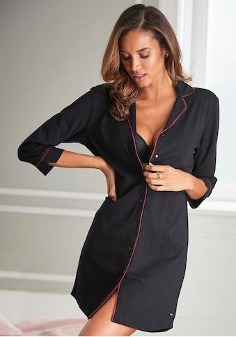 s.Oliver Bodywear Nachthemd, in klassischem Schnitt mit 3/4-Ärmeln kaufen