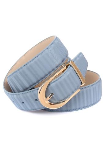 Anthoni Crown Ledergürtel, mit glänzender ovaler Schließe kaufen