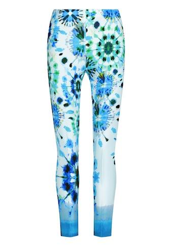 Nicowa Schmale Hose INIDE mit modischem Batik-Design kaufen