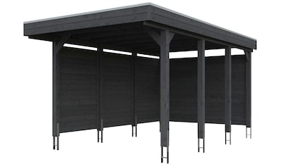 Skanholz Einzelcarport »Friesland Set 1«, Fichtenholz, 270 cm, dunkelgrau kaufen