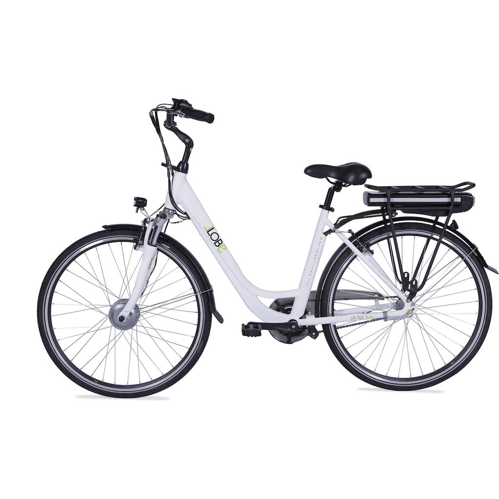 LLobe E-Bike »Metropolitan JOY weiß 10 Ah«