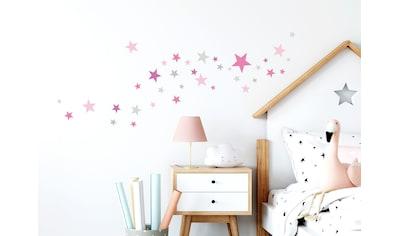 little DECO Wandtattoo »Little Deco Wandtattoo 60 Sterne pink rosa grau« kaufen