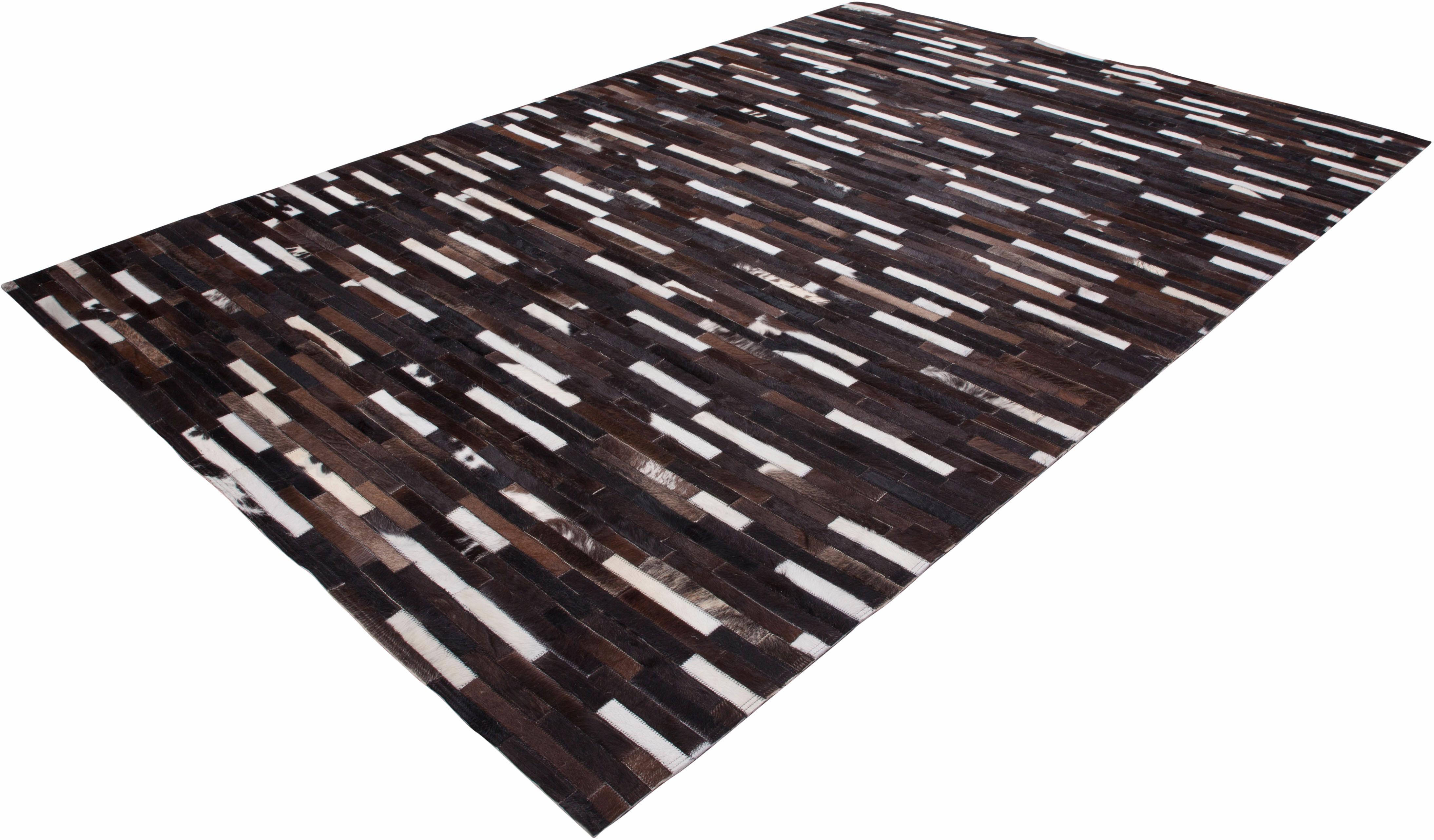 Lederteppich Patchwork 851 LALEE rechteckig Höhe 5 mm