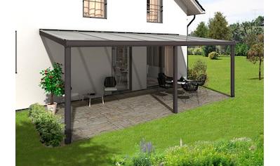 Skanholz Terrassendach »Garda«, BxT: 648x257 kaufen