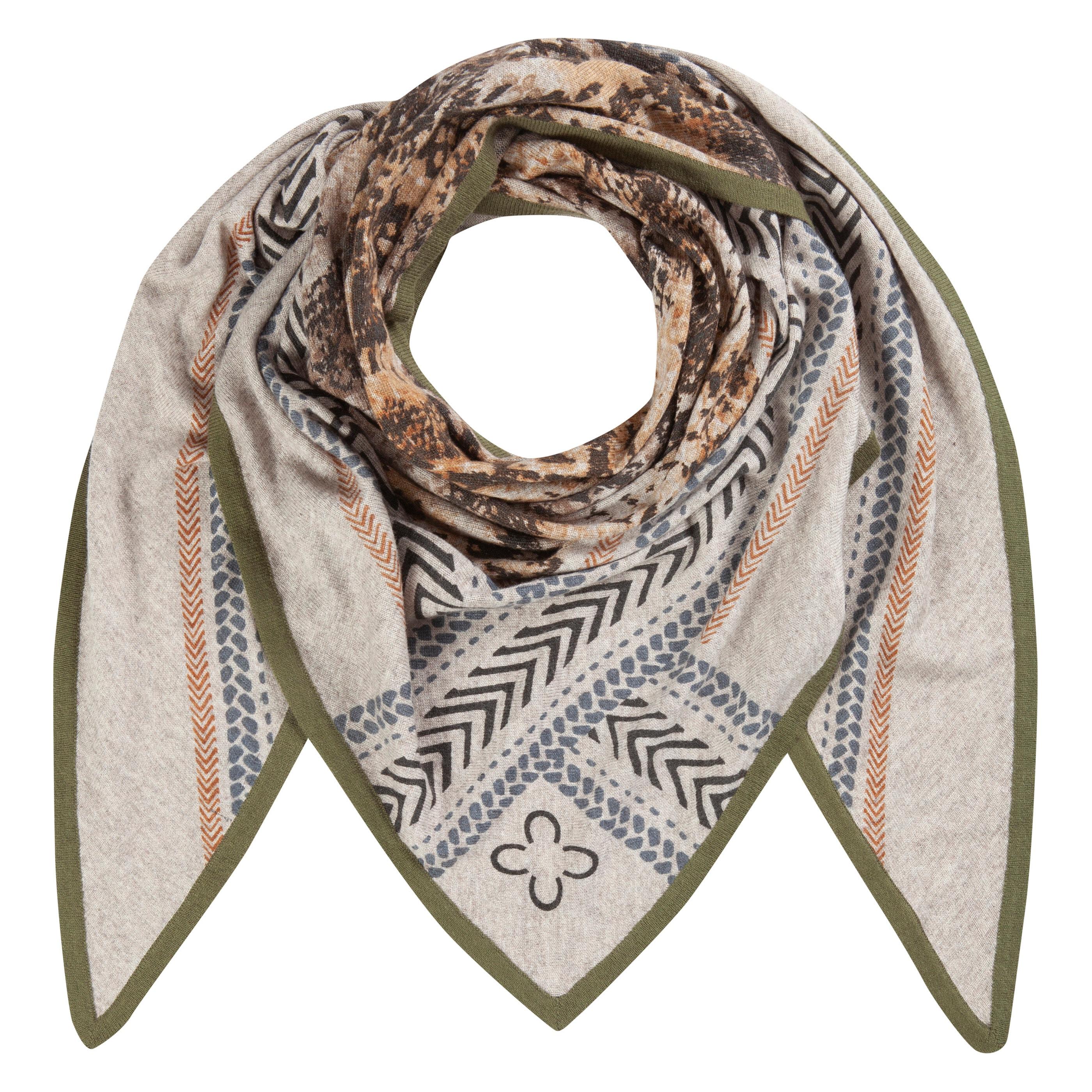 Codello Dreieckstuch, mit wärmender Wolle braun Damen Dreieckstuch