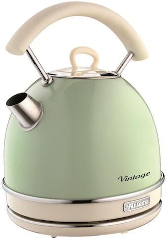 Ariete Wasserkocher, Vintage 2877 grün, 1,7 Liter, 2200 Watt kaufen