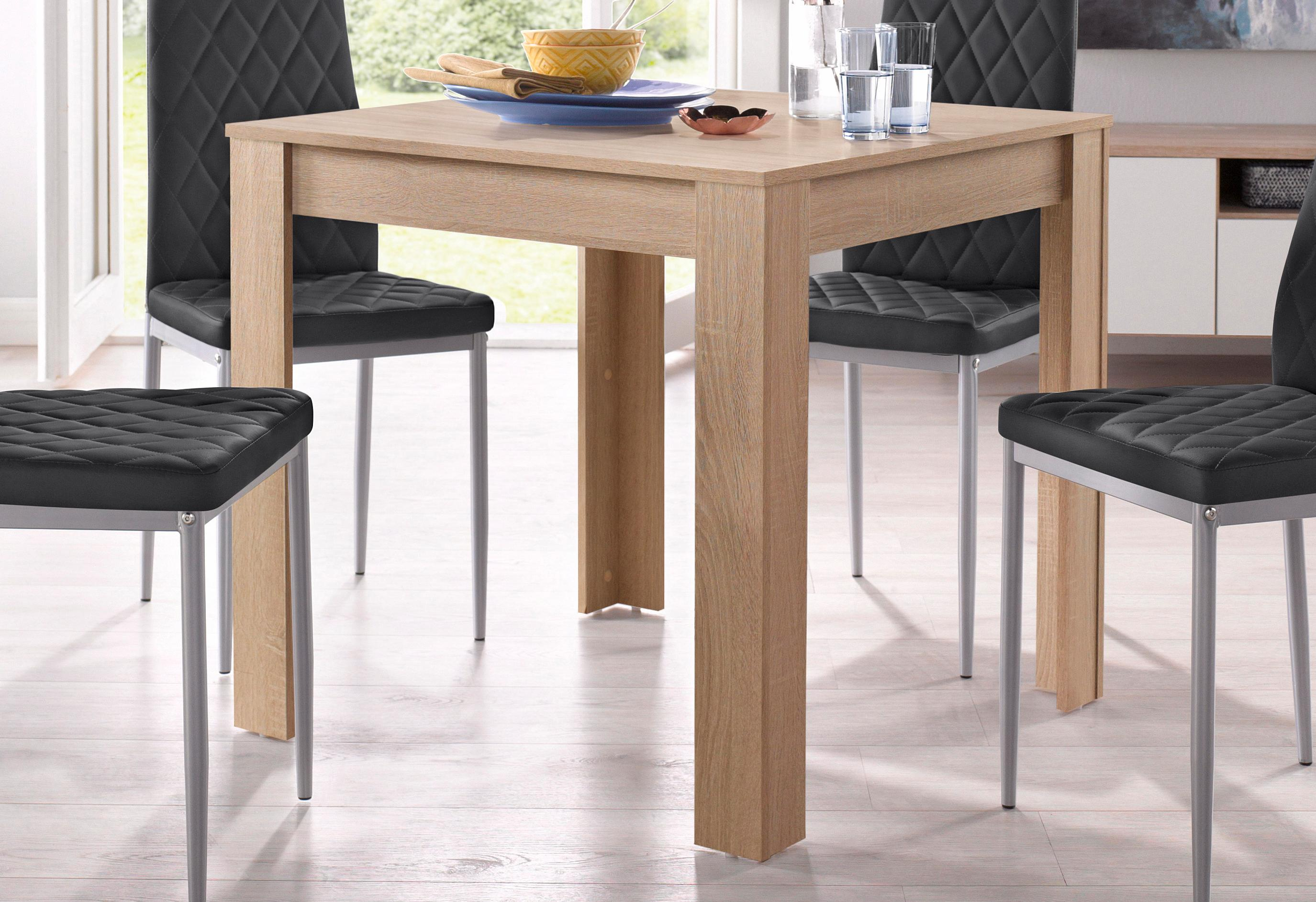 my home Esstisch Lynn, Breite 80 cm braun Esstische quadratisch Tische