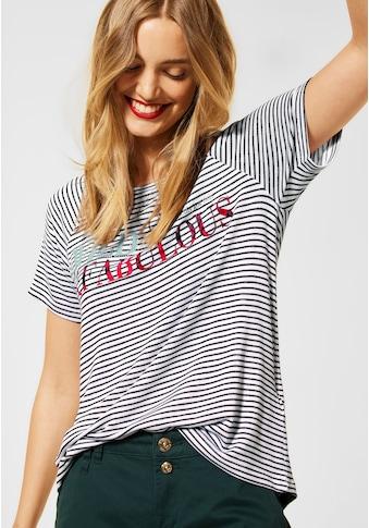 STREET ONE T-Shirt, mit Streifenmuster kaufen