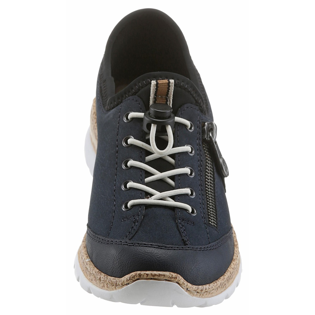 Rieker Slip-On Sneaker, mit Außenreißverschluss