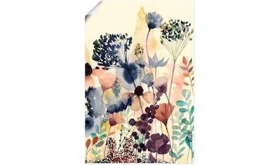 Artland Wandbild »Sonnengetrocknete Blüten II«, Blumenwiese, (1 St.), in vielen Größen & Produktarten - Alubild / Outdoorbild für den Außenbereich, Leinwandbild, Poster, Wandaufkleber / Wandtattoo auch für Badezimmer geeignet kaufen
