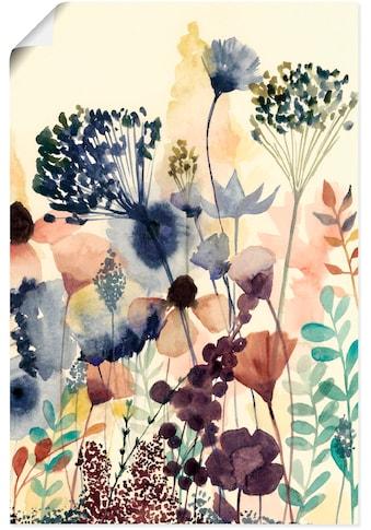 Artland Wandbild »Sonnengetrocknete Blüten II«, Blumenwiese, (1 St.), in vielen Größen... kaufen