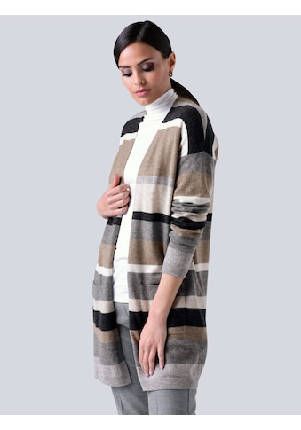 Alba Moda Strickjacke, im exklusiven Streifenmuster kaufen