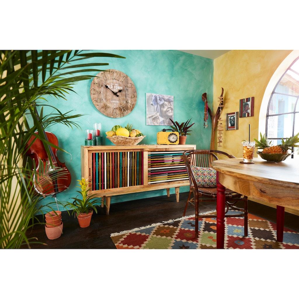 Home affaire Esstisch »Fiore«, mit runder Tischplatte und vier verschieden farbigen Tischbeinen, Breite 120 cm