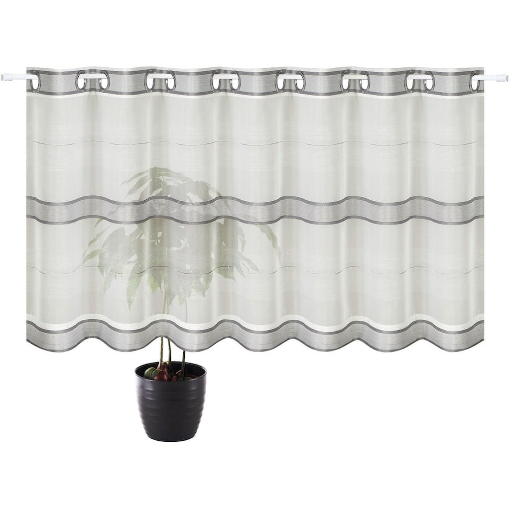 Gerster Scheibengardine »Ubbe«, HxB: 50x140, mit modernem Streifen Design