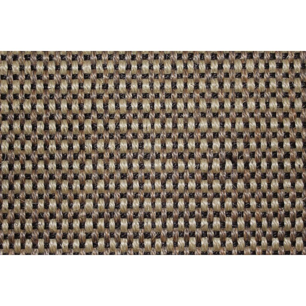 Dekowe Stufenmatte »Brasil«, halbrund, 10 mm Höhe, 100% Sisal, zweifarbig gewebt, auch als Set mit 15 Stück erhältlich