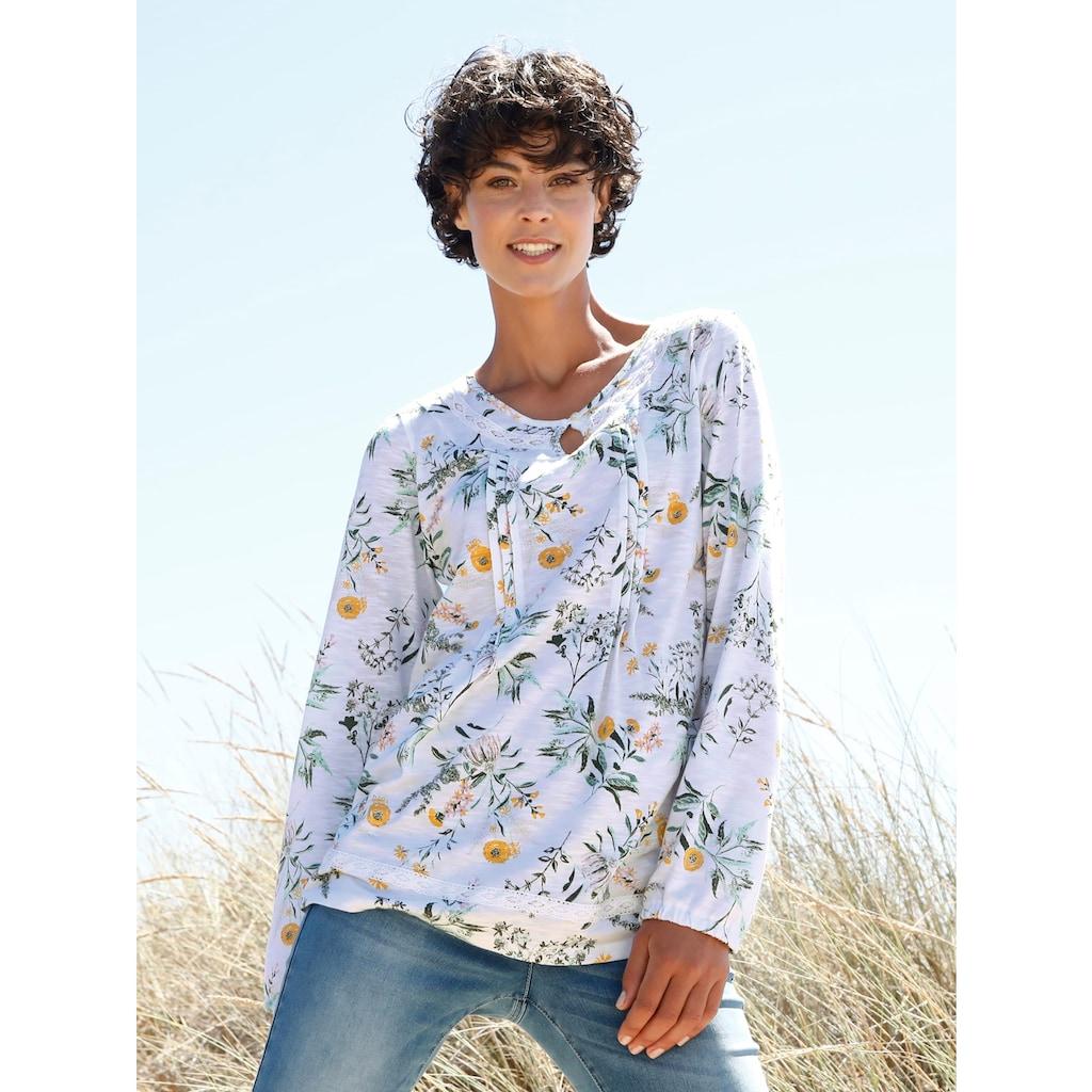 Dress In Langarmshirt, mit schönem Blumenprint