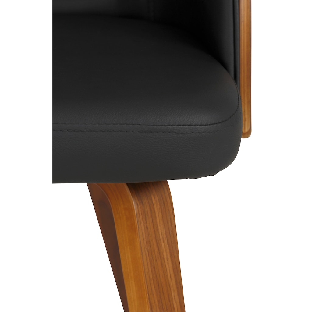 Home affaire Armlehnstuhl »Duncan«, aus schönem Kustleder Bezug, in unterschiedlichen Farbvarianten