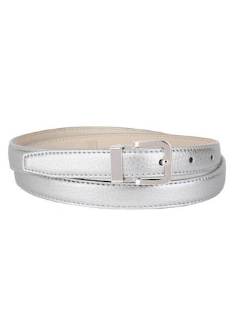 Anthoni Crown Ledergürtel, in schmaler Form, mit raffinierter Schließe kaufen