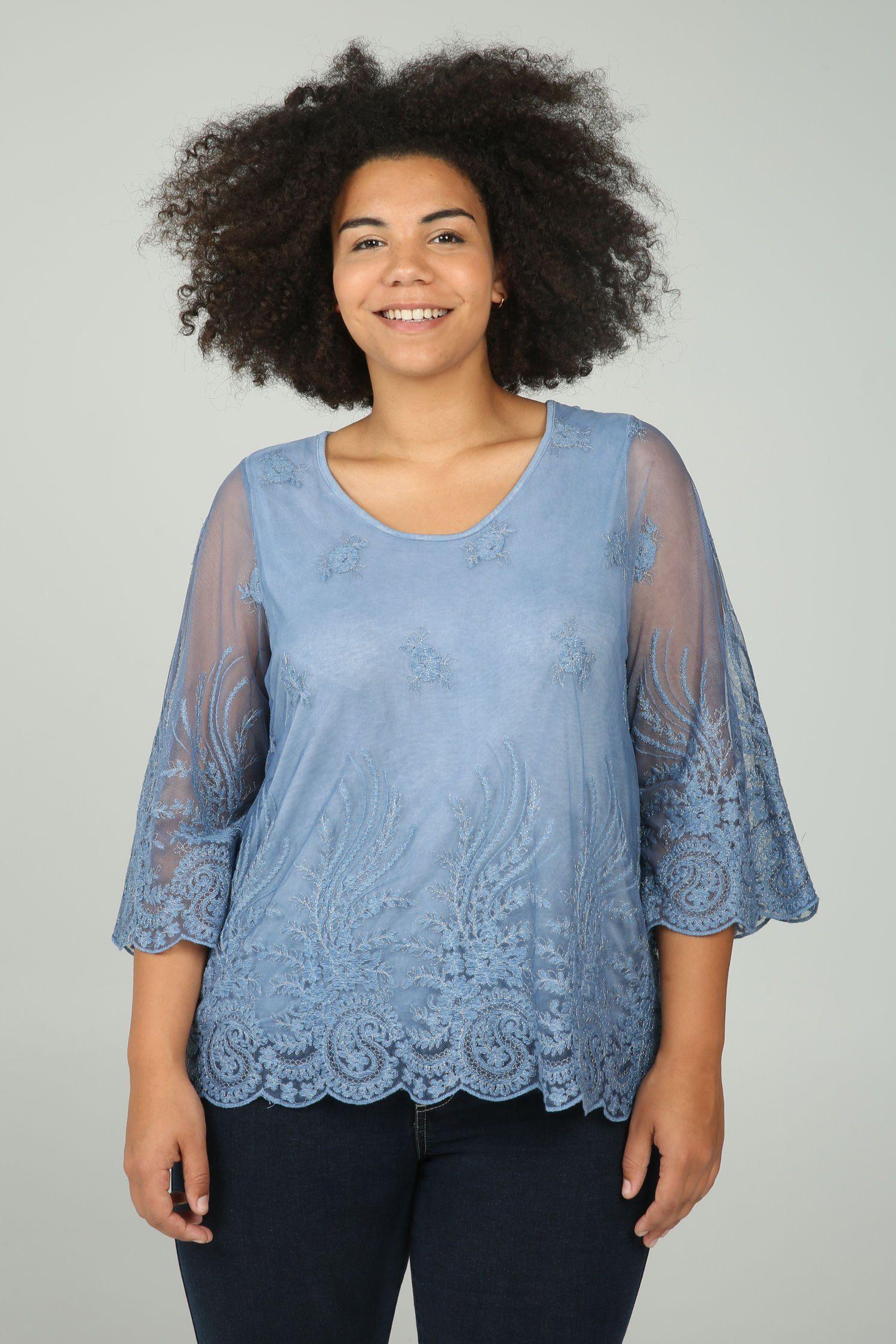 Paprika Longtunika Tunika-T-Shirt mit Stickerei   Bekleidung > Tuniken > Longtuniken   Paprika