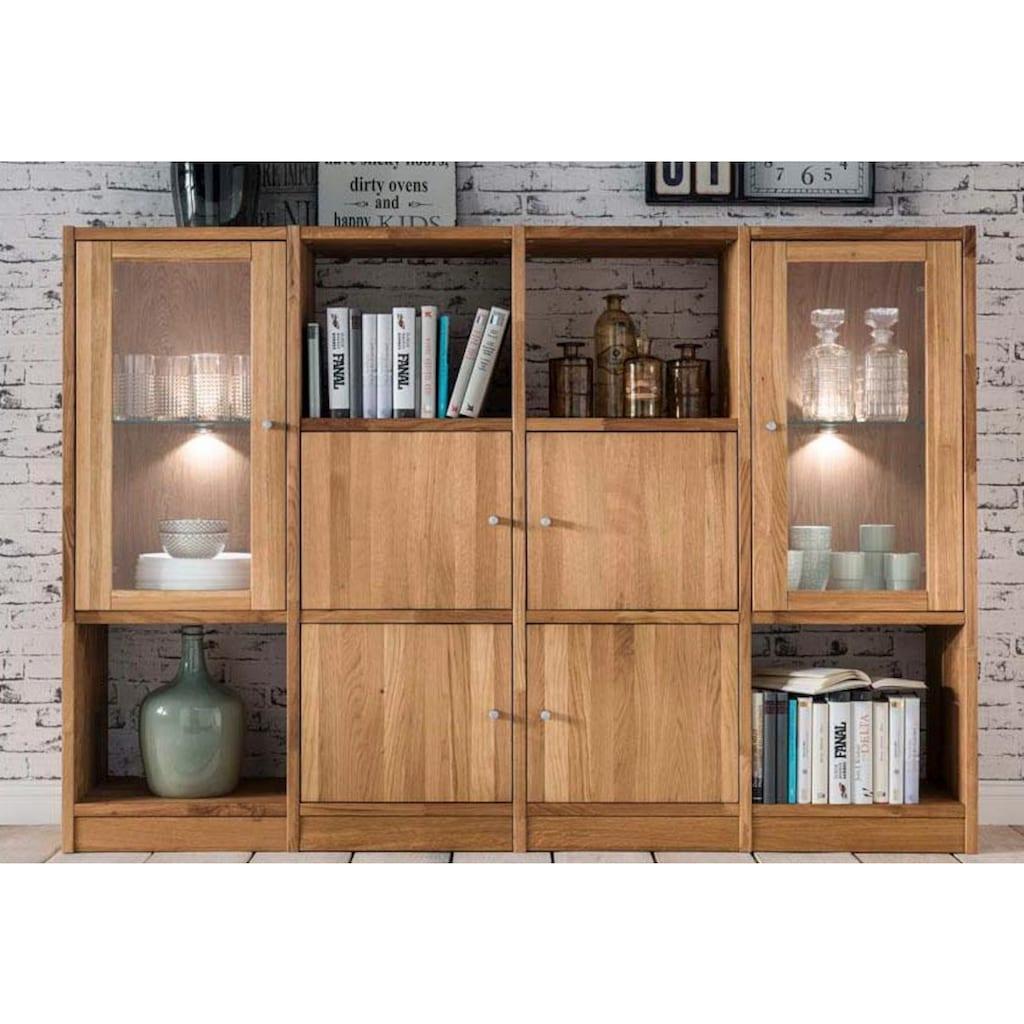 Premium collection by Home affaire Regal »Ecko«, aus massiver Wildeiche, Breite 181 cm, inkl. Beleuchtung