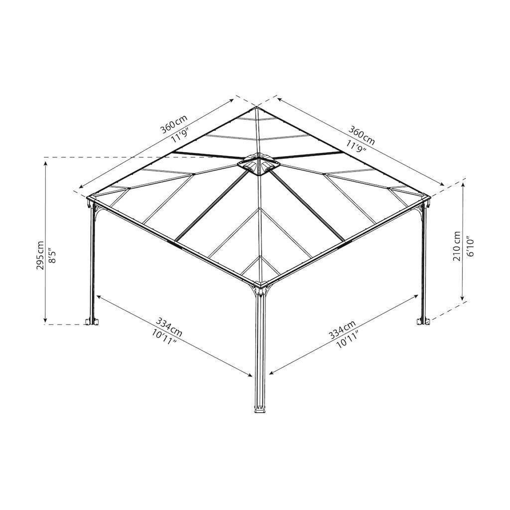 Palram Pavillon »Palermo 3600«, BxT: 360x360 cm