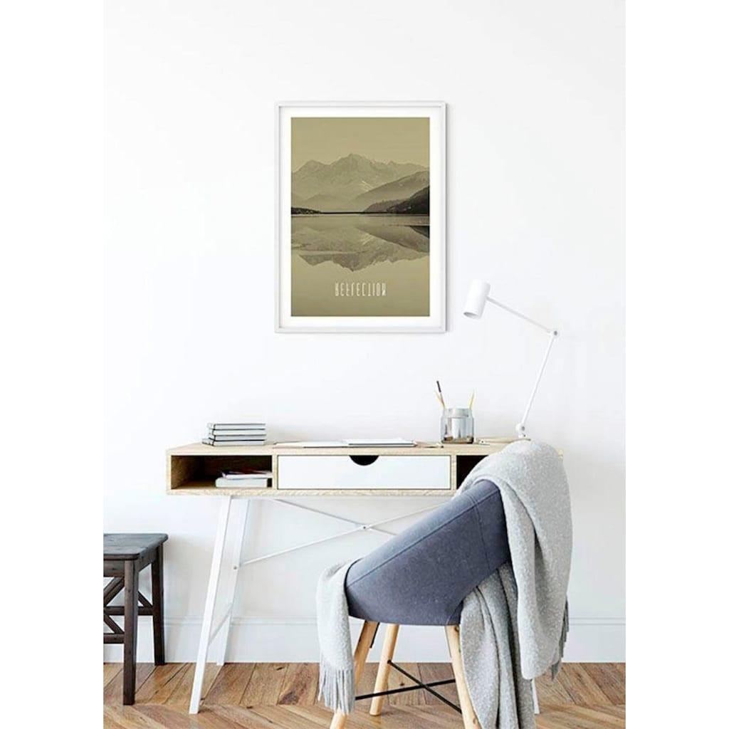 Komar Poster »Word Lake Reflection Sand«, Natur, Höhe: 40cm