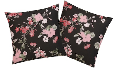 Home affaire Kissenhüllen »Fleur«, (2 St.), mit feinen Blumenmotiven kaufen