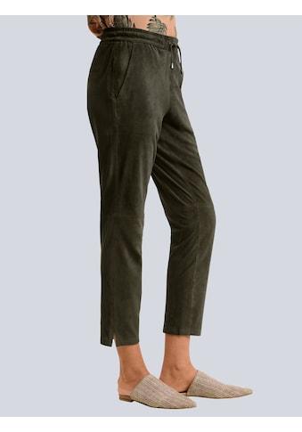 Alba Moda Lederhose, aus hochwertigem Ziegenvelours kaufen