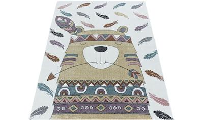 Ayyildiz Kinderteppich »FUNNY 2104«, rechteckig, 11 mm Höhe, Kinder Indianer Motivteppich kaufen