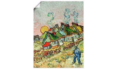 Artland Wandbild »Bauernhäuser bei Sonnenuntergang«, Sonnenaufgang & -untergang, (1... kaufen