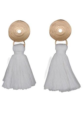 J.Jayz Paar Ohrstecker »mit weißer Textilquaste« kaufen