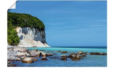 Artland Wandbild »Kreidefelsen Ostseeküste Insel Rügen«, Felsen, (1 St.), in vielen... kaufen