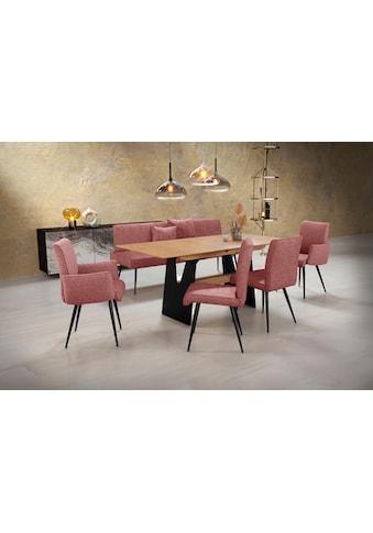 K+W Komfort & Wohnen Essgruppe »Giacomo«, (6 tlg.), Polsterbank, 2 Stühle und 2... kaufen