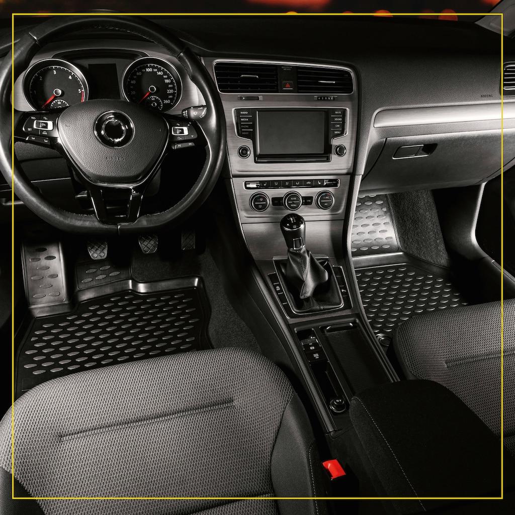 WALSER Passform-Fußmatten »XTR«, Mercedes, B-Klasse, Schrägheck, (4 St., 2 Vordermatten, 2 Rückmatten), für Mercedes-Benz B-Klasse (T245) BJ 2005 - 2011