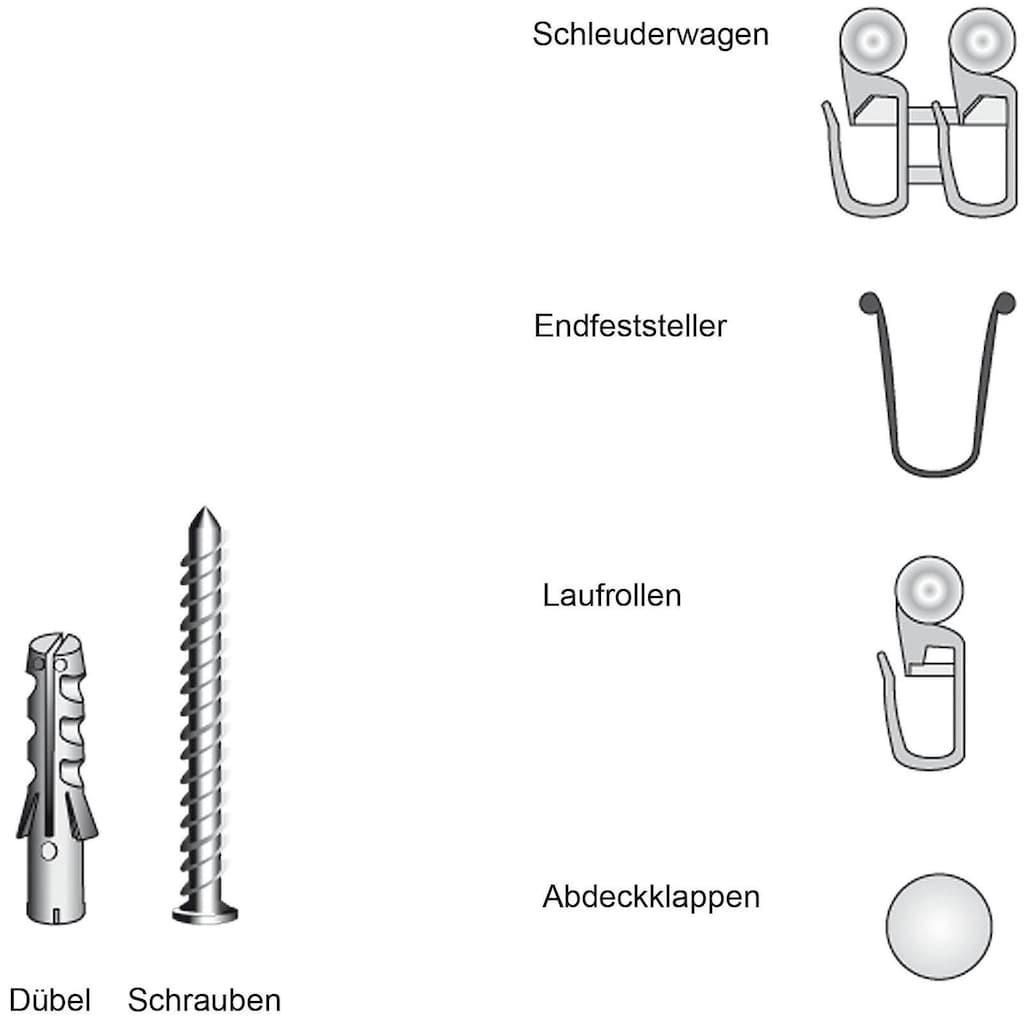 Liedeco Zubehör-Set »für 1-läufige Gardinenschienen«