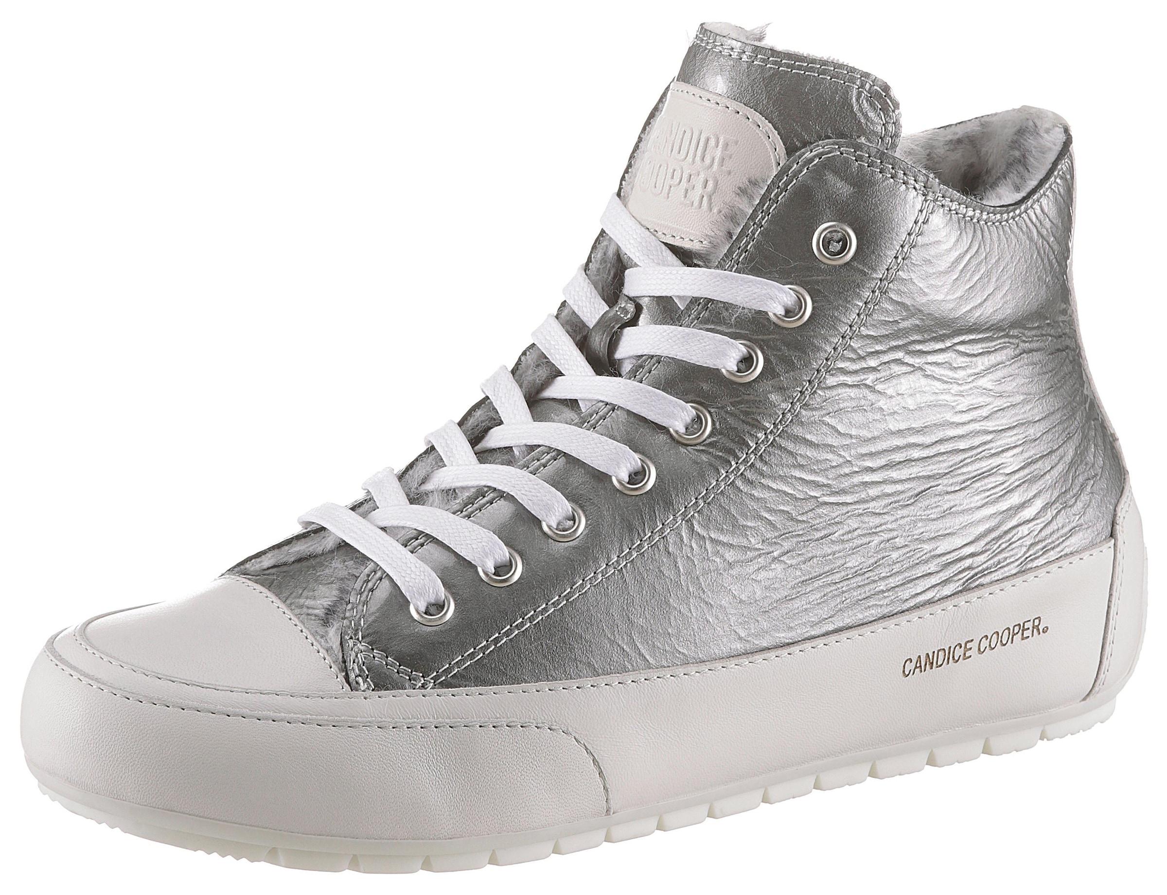 Candice Cooper Sneaker »Plus« mit Lackleder kombiniert   BAUR