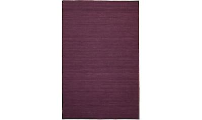 morgenland Wollteppich »KELIM FANCY UNI«, rechteckig, 7 mm Höhe, reine Wolle, Wendbar, Einfarbig, Uni, Wohnzimmer kaufen
