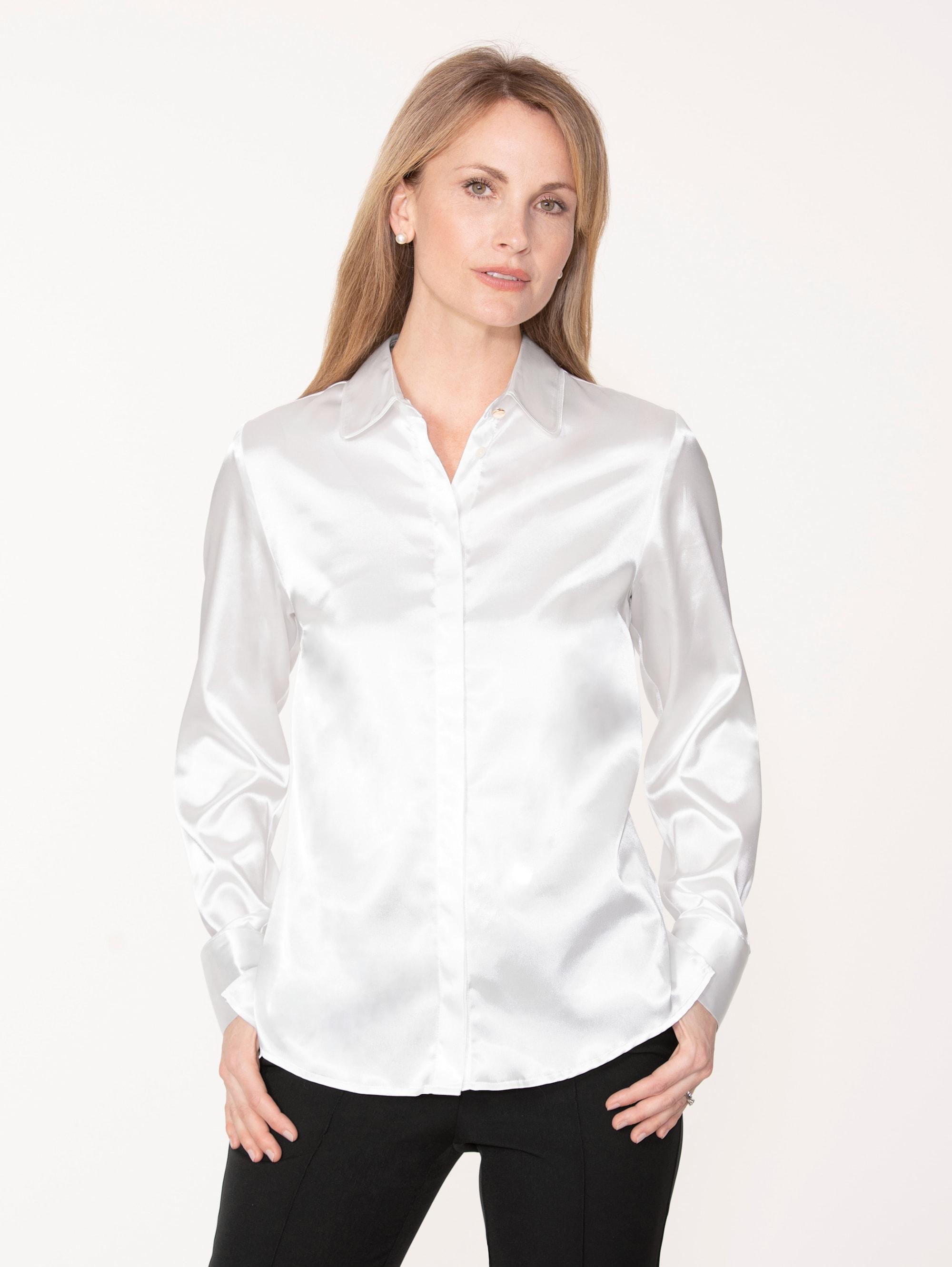 Mona Bluse aus elastischem Satin