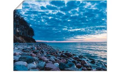 Artland Wandbild »Steine an der Küste der Ostsee«, Küste, (1 St.), in vielen Größen &... kaufen