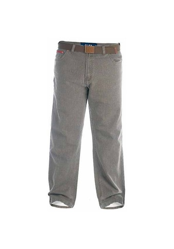 Duke Clothing Cordhose »London Herren Kingsize Brian Bedford Denim Hose in Kord Look mit Gürtel« kaufen